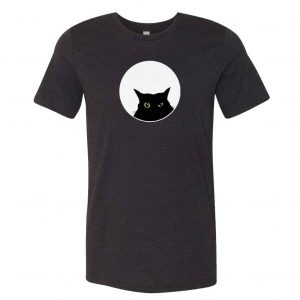 mockup of tshirt with cat graphic