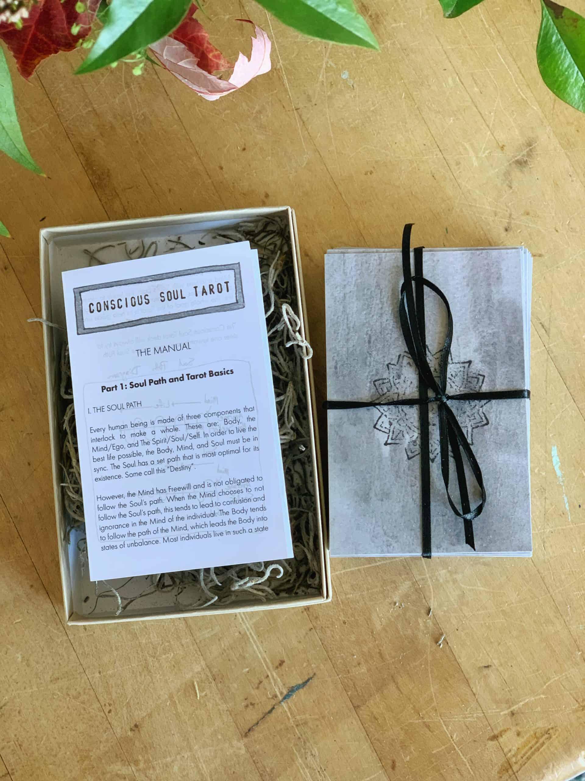tarot card deck in box