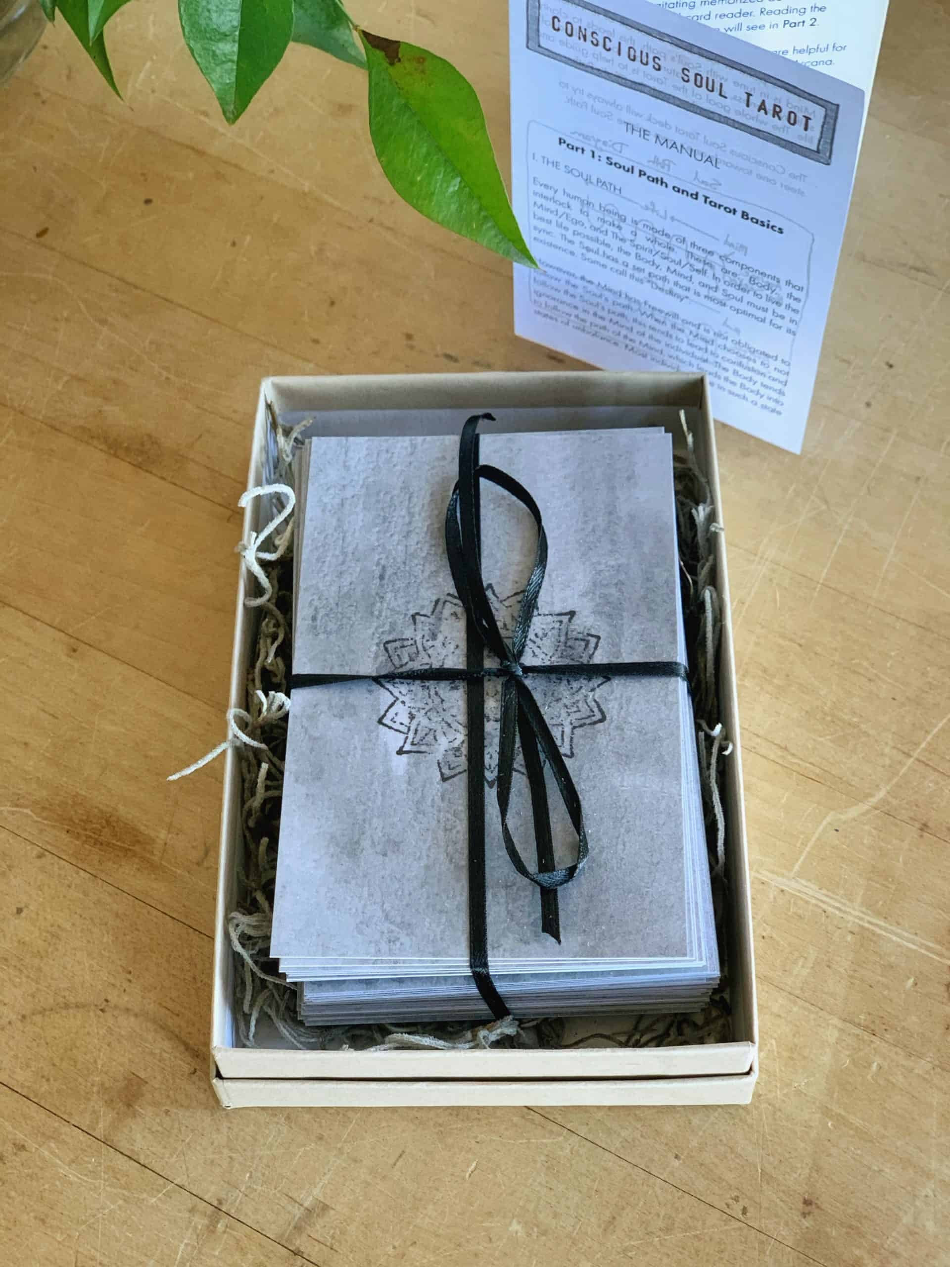 tarot cards in box