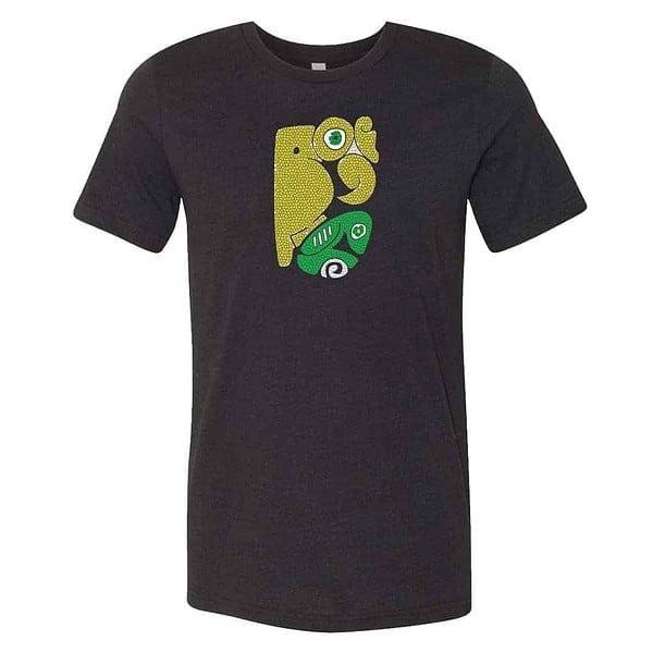 graphic design on a black tshirt
