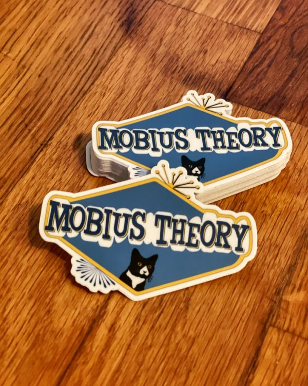 mobius theory retro style logo sticker