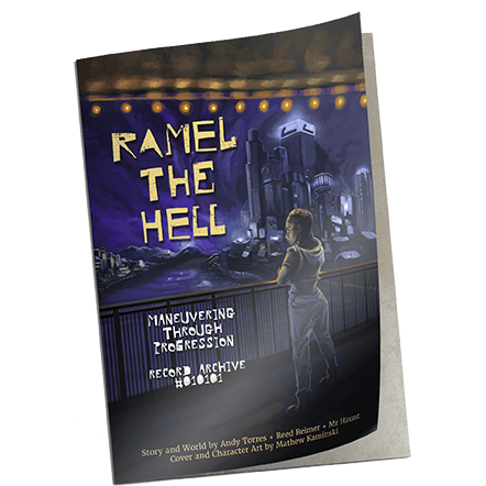 mockup of ramel the hell book in paperback